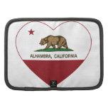 corazón de Alhambra de la bandera de California Organizador