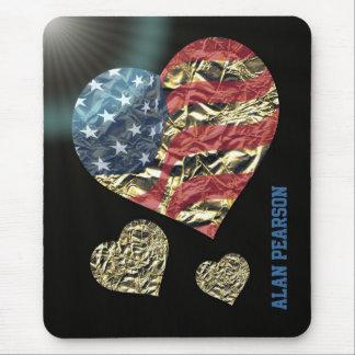 'Corazón de America Alfombrilla De Ratones
