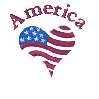 Corazón de América - camisa Polo Bordado De Mujer