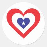 Corazón de América Etiqueta