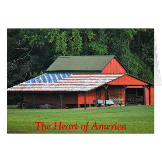 Corazón de América tarjeta de nota