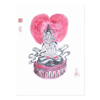 Corazón de Amitabha Buda Tarjeta Postal