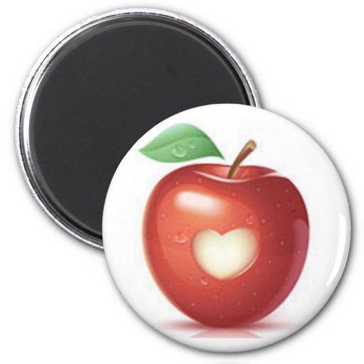 Corazón de Apple Imán Redondo 5 Cm