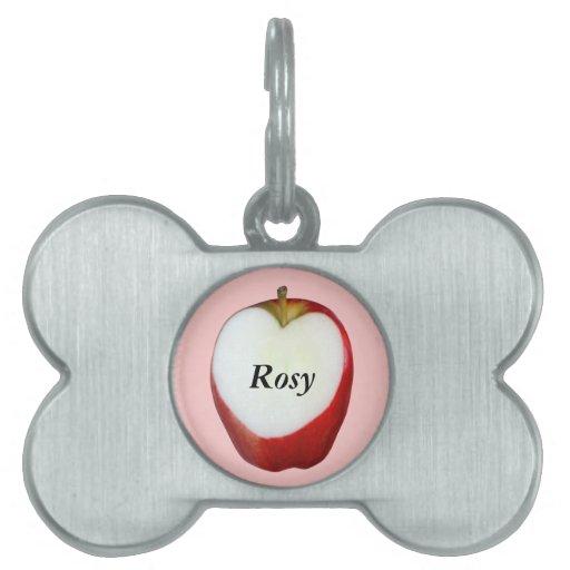 Corazón de Apple Placa Mascota