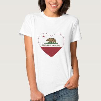 corazón de Bakersfield de la bandera de California Remera