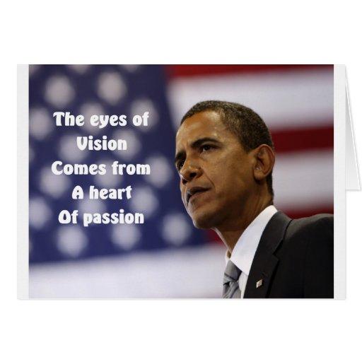 Corazón de Barack Obama de la pasión Felicitación