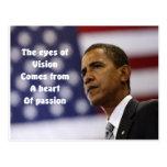 Corazón de Barack Obama de la pasión Tarjeta Postal