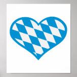 Corazón de Baviera de Oktoberfest Póster