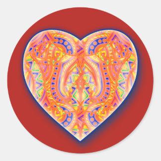 Corazón de Bebopo en el pegatina rojo