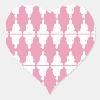 Corazón de Buda Pegatina Corazón Personalizadas