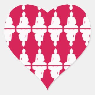 Corazón de Buda Calcomanía De Corazón