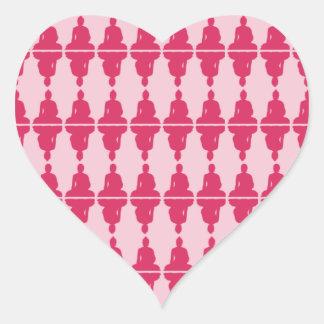 Corazón de Buda Pegatinas De Corazon
