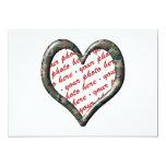 Corazón de Camo - bosque - marco de la foto de la Invitación 12,7 X 17,8 Cm