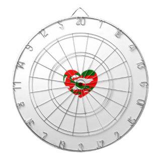 Corazón de Camo del navidad de Italia Tabla Dardos