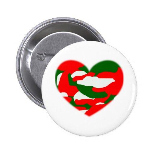 Corazón de Camo del navidad de Italia Pins