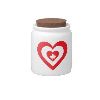 Corazón de Canadá Platos Para Caramelos