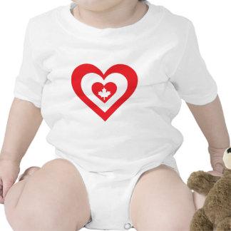 Corazón de Canadá Trajes De Bebé
