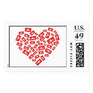 Corazón de casetes sellos