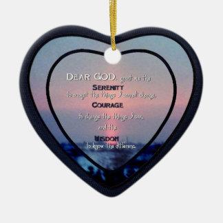 Corazón de cerámica Ornament_SerenityPrayer_2 Ornamentos De Reyes
