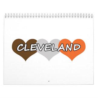 Corazón de Cleveland Calendarios De Pared