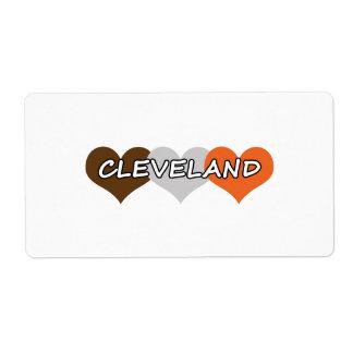 Corazón de Cleveland Etiqueta De Envío