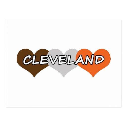 Corazón de Cleveland Postal