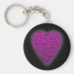Corazón de color rosa oscuro. Diseño modelado del  Llaveros