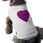 Corazón de color rosa oscuro. Diseño modelado del  Camisa De Mascota