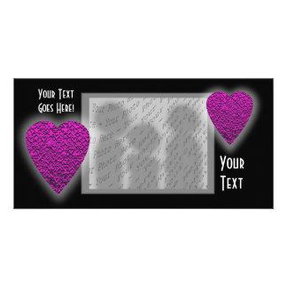 Corazón de color rosa oscuro. Diseño modelado del  Tarjeta Fotografica Personalizada