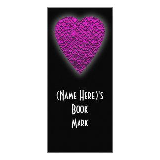 Corazón de color rosa oscuro. Diseño modelado del  Tarjeta Publicitaria