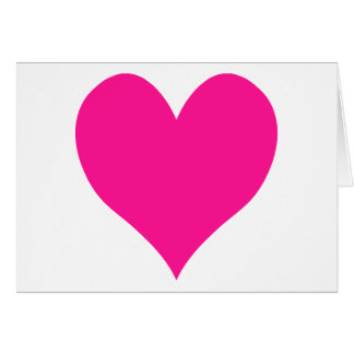 Corazón de color rosa oscuro lindo