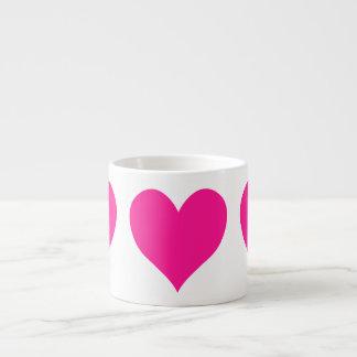 Corazón de color rosa oscuro lindo taza de espresso