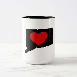 Corazón de Connecticut Taza De Café