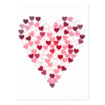 Corazon de Corazones - corazón de corazones Tarjeta Postal