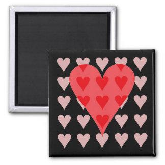 Corazón de corazones iman de frigorífico