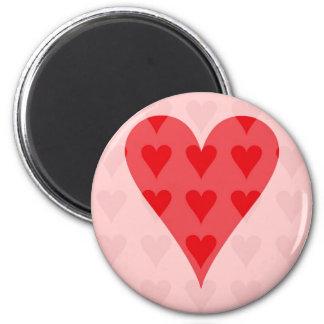 Corazón de corazones imán de frigorifico