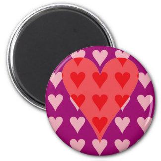Corazón de corazones imán para frigorifico
