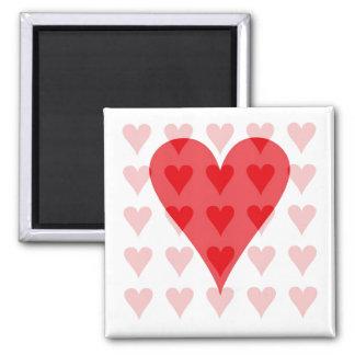 Corazón de corazones imanes de nevera