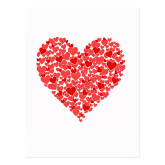 Corazón de corazones postales