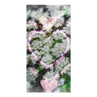Corazón de corazones tarjetas fotográficas personalizadas