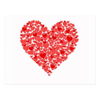 Corazón de corazones tarjetas postales