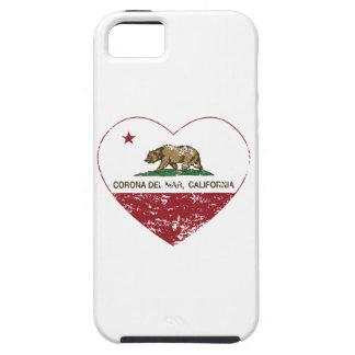 corazón de Corona del Mar de la bandera de Califor iPhone 5 Cobertura