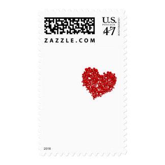 Corazón de cráneos - punk alternativo de la roca timbres postales