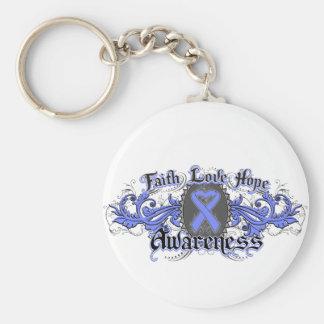 Corazón de Deco de la esperanza del amor de la fe Llaveros Personalizados