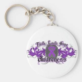 Corazón de Deco de la esperanza del amor de la fe Llavero Personalizado