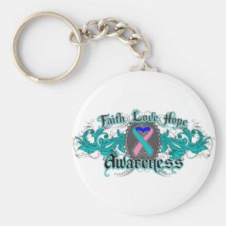 Corazón de Deco de la esperanza del amor de la fe Llaveros