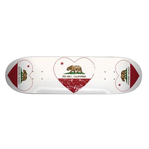 corazón de Del Mar de la bandera de California ape Patinetas Personalizadas