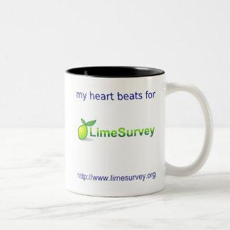 Corazón de derrota de LimeSurvey Taza