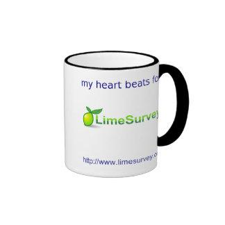 Corazón de derrota de LimeSurvey Tazas De Café