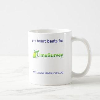 Corazón de derrota de LimeSurvey Taza De Café